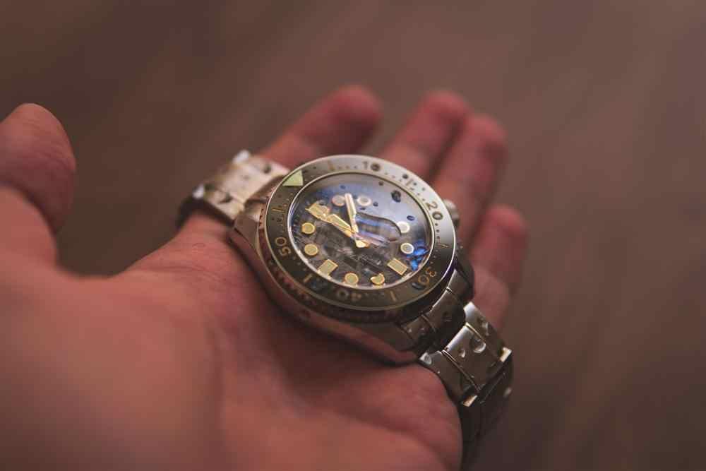 Proxima NH35A隕石ダイヤルダイバー自動腕時計marinemaster男完全挿入