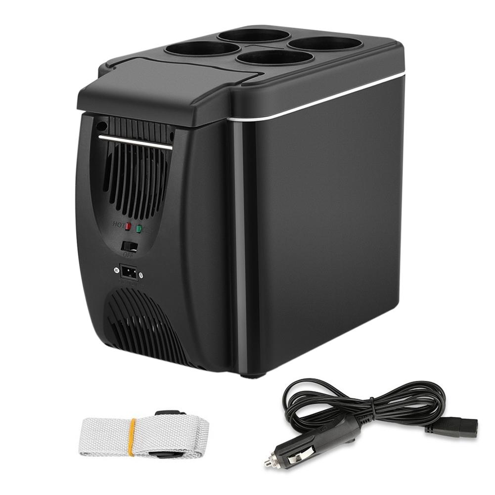 12V refrigerador congelador calentador 6L Mini coche nevera refrigerador y calentador eléctrico nevera portátil refrigerador de viaje