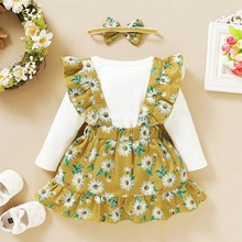 Autumn Baby Girl Casual Clothging Suit Infant Kids Long Slee