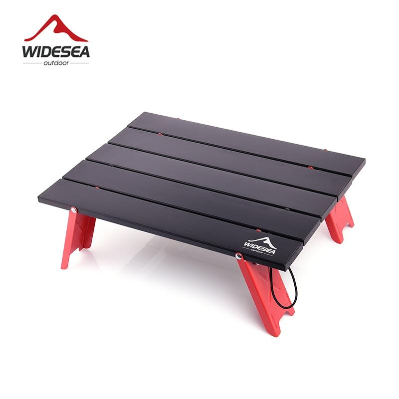 Widesea acampamento mini mesa dobrável portátil para piquenique ao ar livre churrasco tours utensílios de mesa ultra leve dobrável cama computador