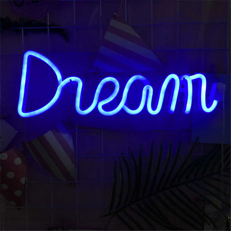 LED Neon Sign Light Wall Decoration Lights Art Decor Lamp for Kids Room Home