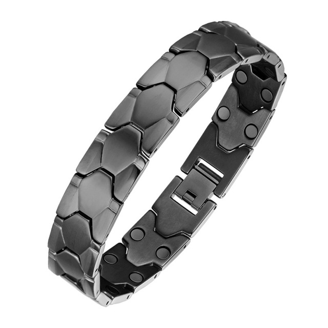 Oktrendy Big Casual Style Men Magnetic Bracelet Quality Sliver Stainless Steel Bracelets for Arthritis Health Care Jewelry Gifts