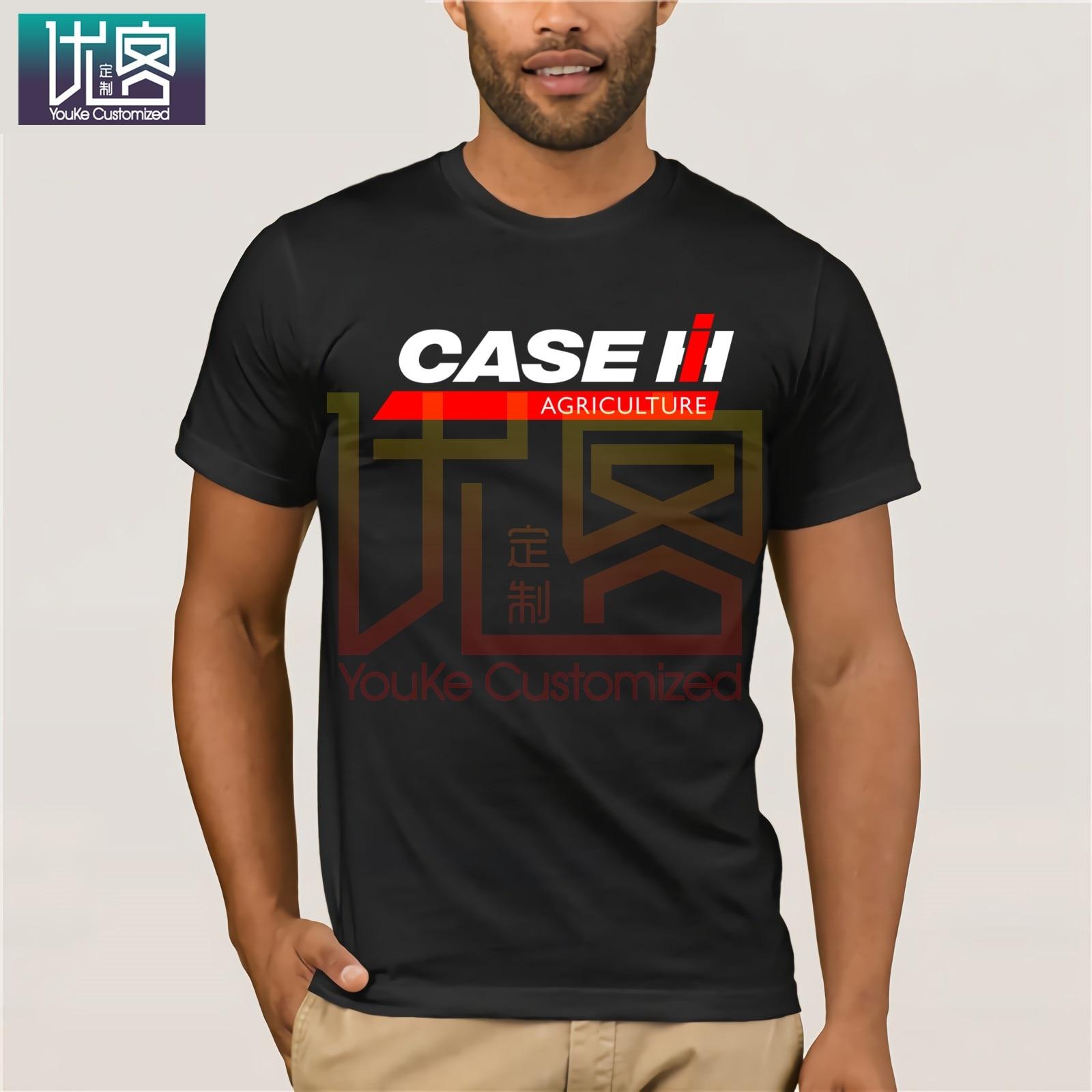 Tops Cool T Shirt O-Neck Short New Case Ih Tractor Agriculture Logo Men's Black T-Shirt Size S 3XL Design T Shirts For Men