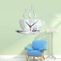 1 قطعة 2020 جديد ثلاثية الأبعاد لتقوم بها بنفسك ساعة حائط ديكور المنزل الحديث مرآة كريستال ملصق الفن الفينيل ملصق مائي