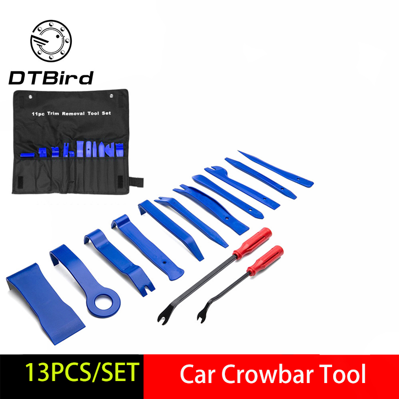 13PCS Car Disassembly Tools DVD Stereo Refit Kits Interior Plastic Trim Panel Dashboard Installation Removal Repair Tools