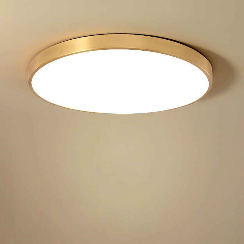 Ultra-thin LED Ceiling Lamp Gold Lamp Surface Installation Living Room Bedroom Remote Home Decoration Lighting