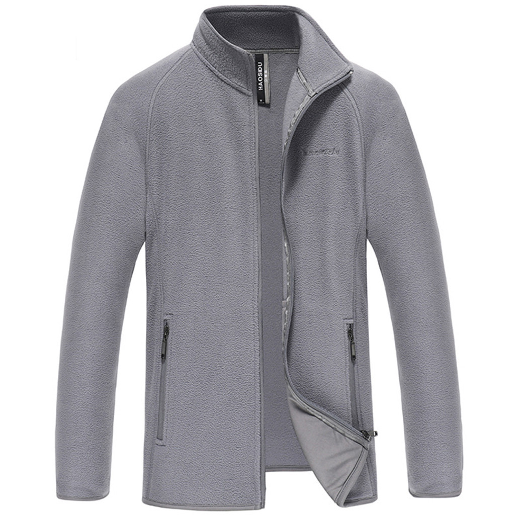 Mens Jackets Spring Autumn Simple Pure Color Stand Mens Jackets Big Sizes 2019 New Jacket Men Casual