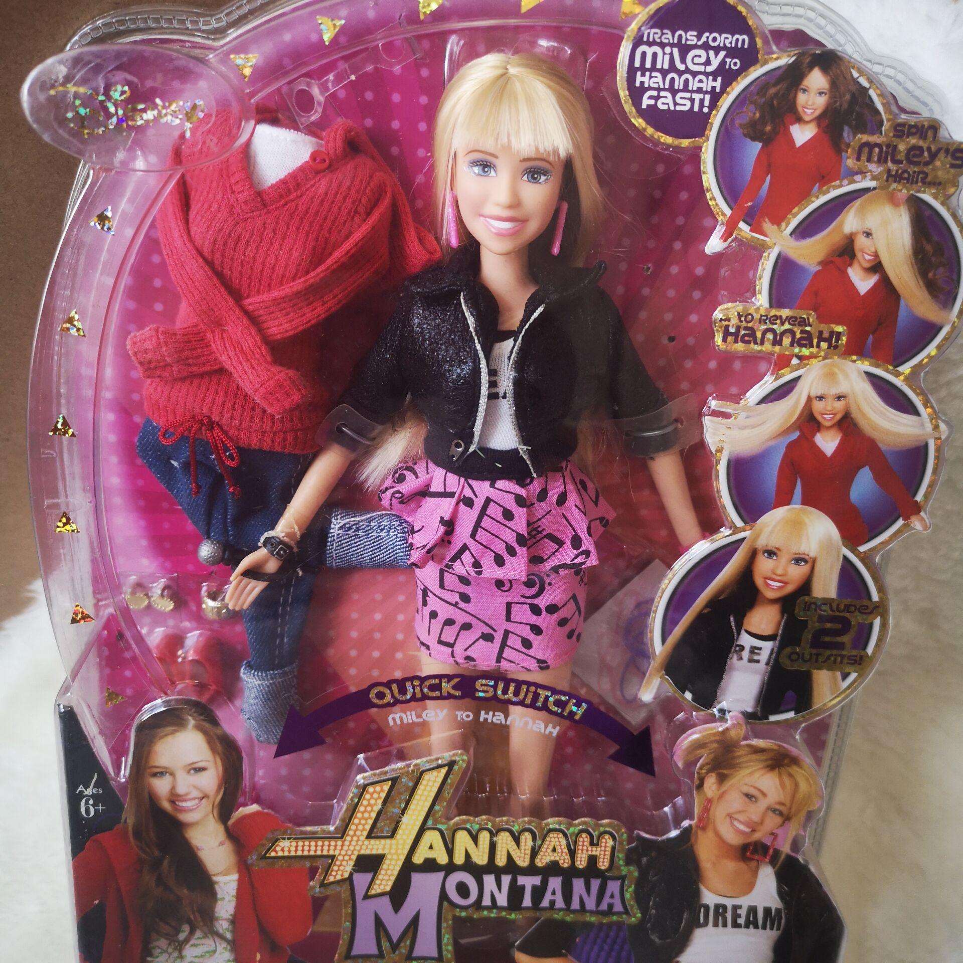 Disney princesa bonecas hannah miley menina moda boneca jogar casa bebê boneca diy moda boneca brinquedo crianças presente de aniversário