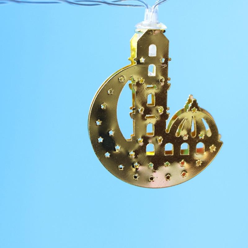 Home Party DIY LED String Light Ramadan Decoration Star Moon Light EID Mubarak Decor For Islam Muslim Party Decor Favor Gift