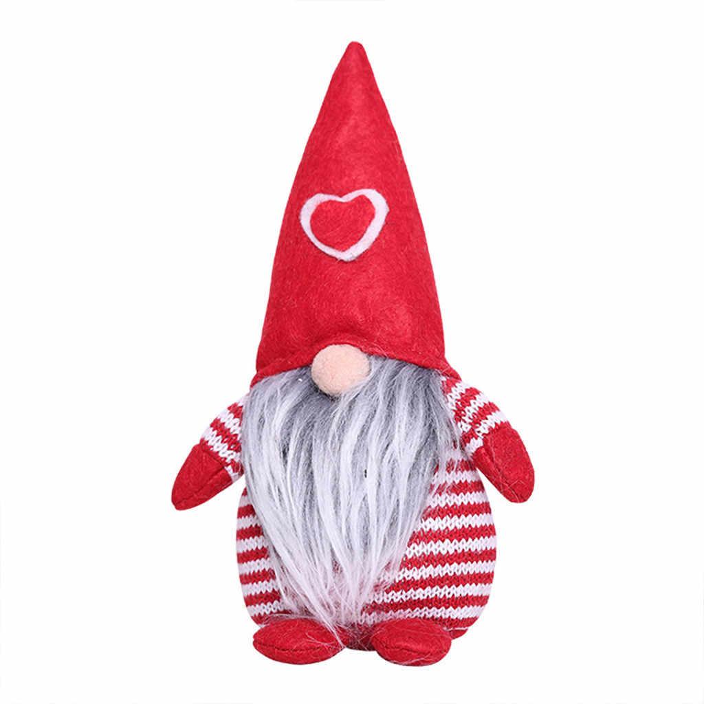 2019 Yeni Noel Dekorasyon Çizgili Şapka Bağlı Sakal Bacaklar Asılı Hiçbir Yüz dol # AQ