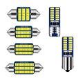 1 шт. Автомобильный светодиодный светильник гирлянда 31 мм 36 мм 39 мм 41 мм Canbus T10 C5W C10W внутренняя лампа для чтения купольная лампа для парковки ...