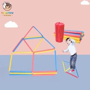 Happymaty 11 метров, Детская Спортивная Скакалка в сетку с губкой, лестница для игр на открытом воздухе для родителей и детей, игрушки для прыжков