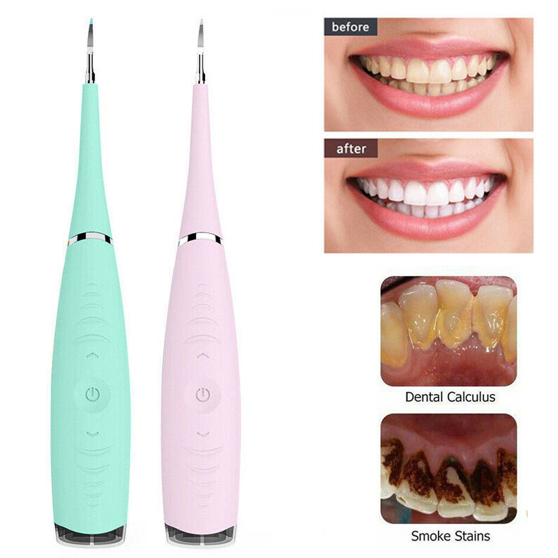Electric Sonic Dental Scaler Tooth Calculus Remover Cleaner Tooth Stains Tartar Tool Dentist Whiten Teeth Health Oral Cleaner