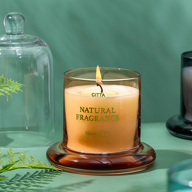 1PC High-End Aromatherapy  Smokeless Glass Scented Candle Bell Jar  4