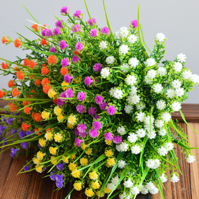 Wedding Decoration Fake Flowers Bouquet Artificial Gypsophila Flower Simulation Green Leaf for Home Garden Decor Floral in Artificial Dried Flowers from Home Garden