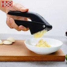 Huohou cozinha alho presser manual triturador de alho micer cortador ferramenta espremer ferramenta frutas & legumes cozinha ferramenta