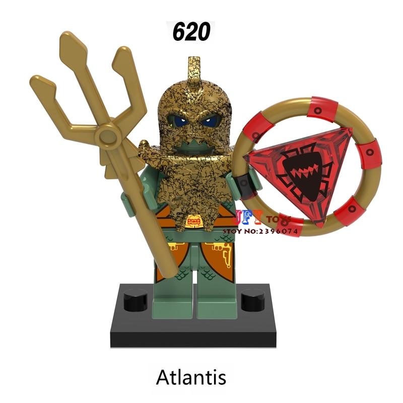 Single Super Heroes Marvel Dc Atlantis Building Blocks Models Bricks Toys For Children Kits
