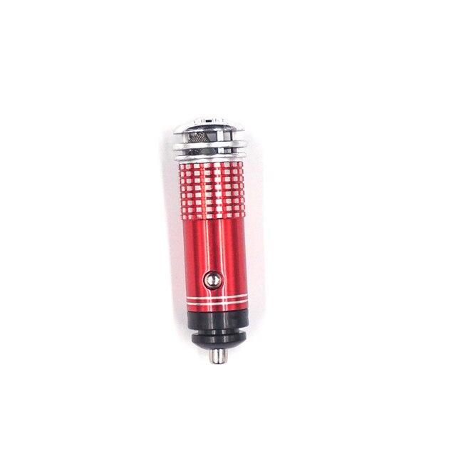 Mini Car Air Purifier 12V Mini Auto Car Fresh Air anion Ionic Purifier Oxygen Bar Ozone Ionizer cleaner Vehicle Air Freshener 4