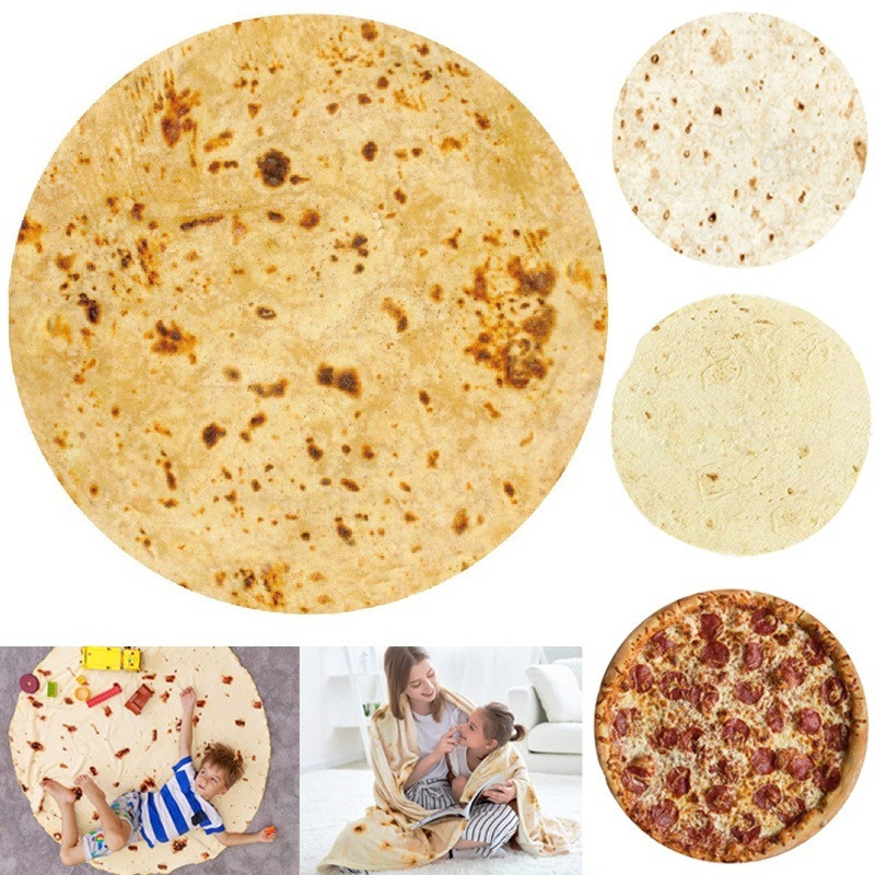 Funny Bedding Outlet Corn Pancake Blanket Pita Lavash Food Flannel Blanket for Bed Fleece Throw Funny Plush Bedspread image