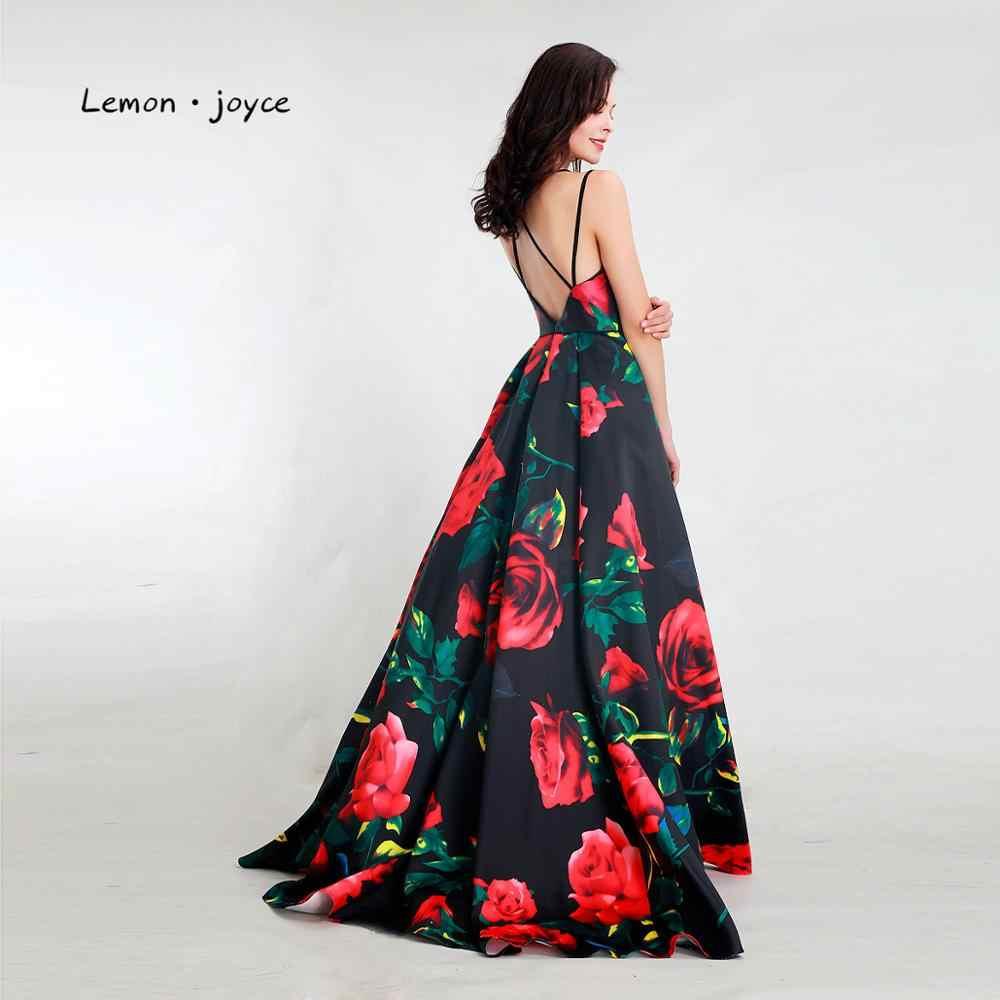 Chanh Joyce Thanh Lịch Quần Sịp Đùi Thông Hơi 2020 Sexy Hở Lưng Họa Tiết Chữ A Váy Dạ Hội Nữ Plus Kích Thước