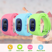 цена на Anti-lost Smart Watch OLED GPS Tracker Child Monitor SOS Positioning Phone Children GPS Baby Watch IOS Android Location Locator