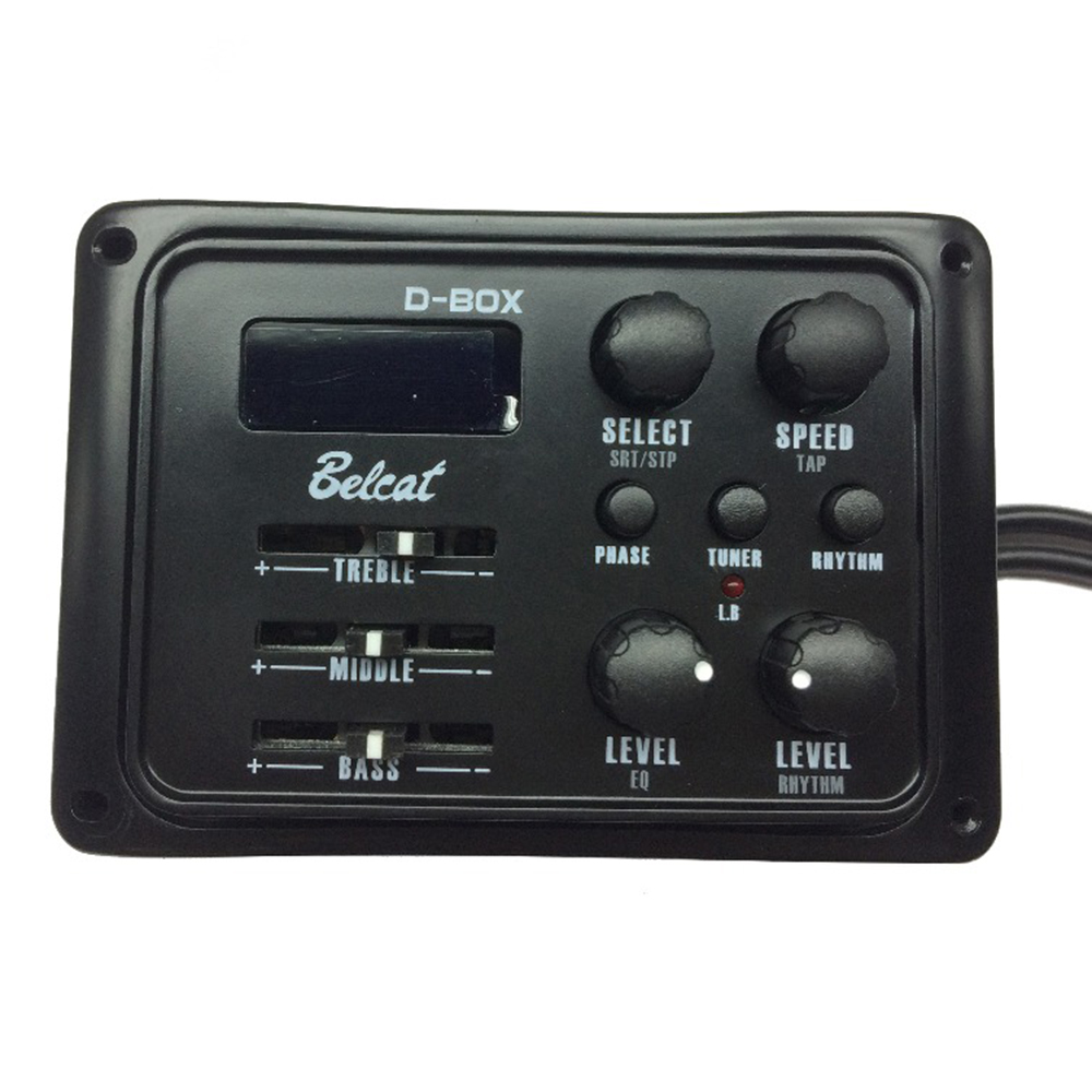 Belcat D-BOX PICKUP 3Bands EQ With Rhythm Box With LCD Chromatic Tuner