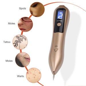 Image 2 - 9 poziom LCD skóra twarzy usuwa ciemne plamy Mole Laser do usuwania tatuażu długopis plazmowy maszyna twarzy plamka Tag usuwanie brodawek pielęgnacja urody