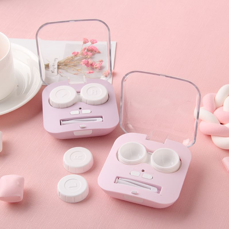 Glasses Cosmetic Contact Lenses Box Contact Lens Case For Eye Color Care Travel Kit Holder Container Lot Accessaries