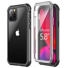 코크 아이폰 12 미니 11 프로 맥스 케이스 360 보호 크리스탈 뒷면 커버 아이폰 11Pro Xr Xs 맥스 X 충격 방지 케이스 iPhone12