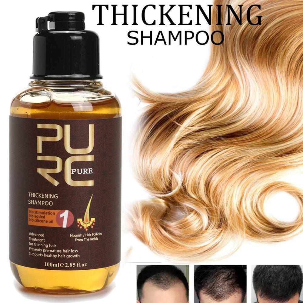 PURC Anti-Loss hair Shampoo 100ml Thickening Shampoo Hair Growth Essence Oil Hair Loss Treatment Hair Regrowth Hair Care Product image