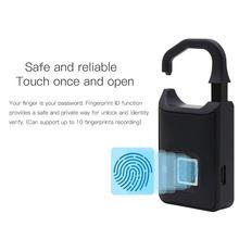 Fingerprint Lock Intelligent Lock Travel Box Student Dormitory Warehouse Door Anti-theft Extra-long Standby Electronic Padlock