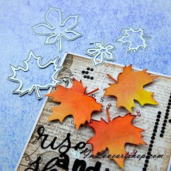 YaMinSanNiO Tree Leaves Dies Maple Leaf Metal Cutting Dies for DIY Scrapbooking Craft Card Embossing Diecut New Template Stencil