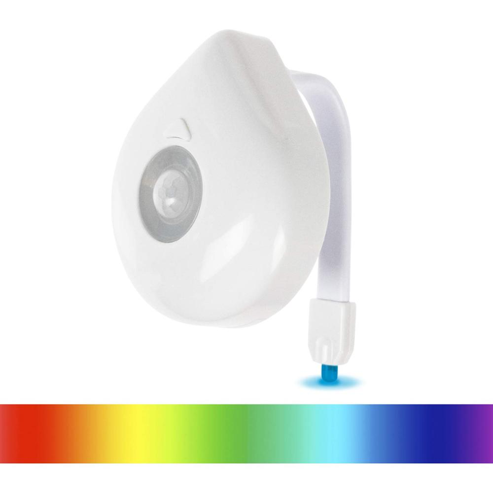 WC Light LED Toilet Seat Night Light Motion Sensor 8 Colors Changeable Lamp AAA Battery Powered Backlight For Toilet Bowl Child
