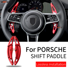 Car Steer-Wheel Extend Shift Paddle Auto Accessory Aluminum Alloy Car Styling red/blue/black/sivlery Fit For Porsche 718 911 918