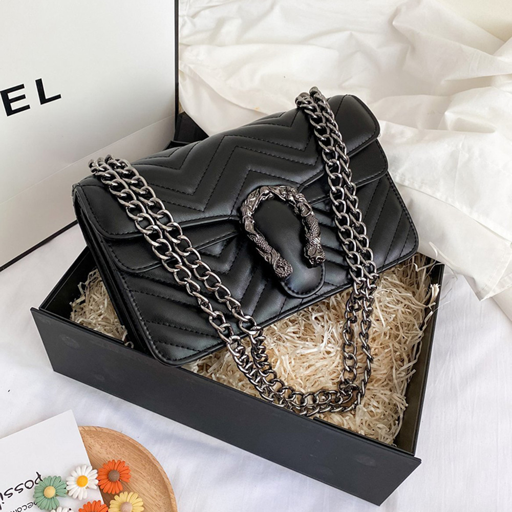 Модные женские сумки-мессенджеры 2021, сумки через плечо из искусственной кожи с металлическими цепочками, кошельки, женские роскошные дизай...