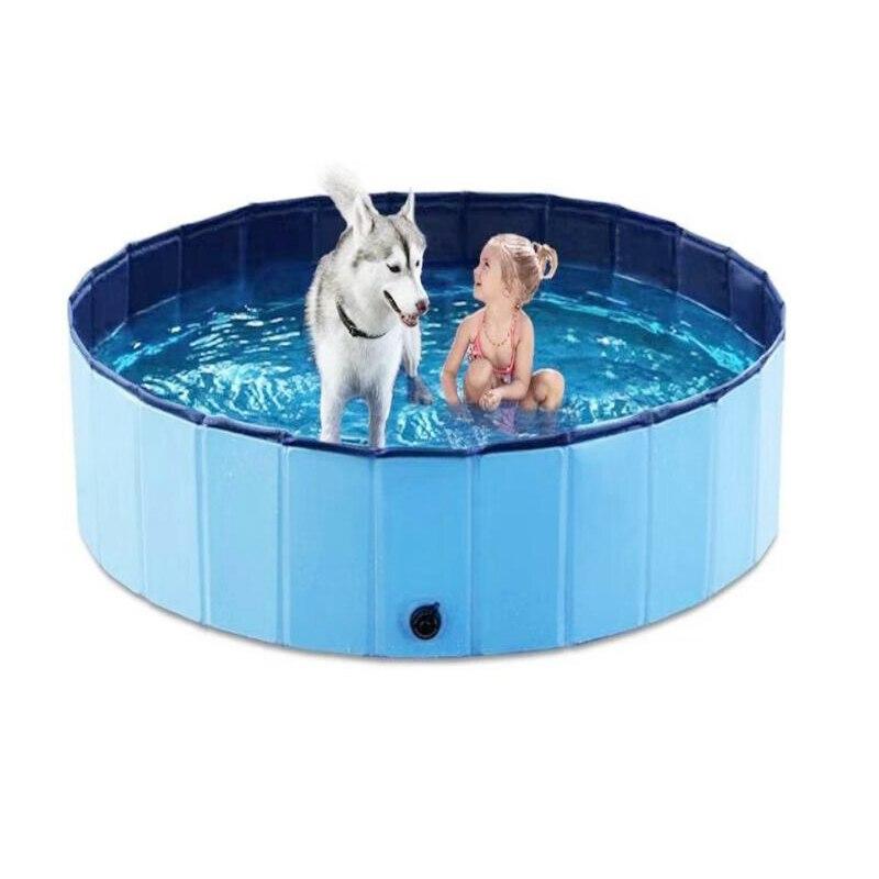 Креативный складной собачий бассейн собака для плавательного