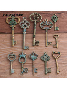 Pendant Charms Fit-Jewelry Medical-Plant Makings Bronze Metal Mix Green 2-10pcs 11-Styles