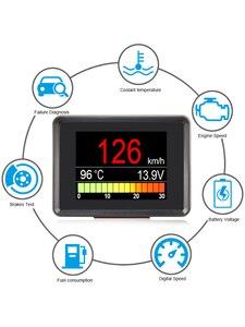 Image 2 - A203 OBD2 i staje w sytuacji sam na sam komputer pokładowy samochód cyfrowy monitor do komputera prędkościomierz paliwa licznik zużycia wskaźnik temperatury OBD2 skaner