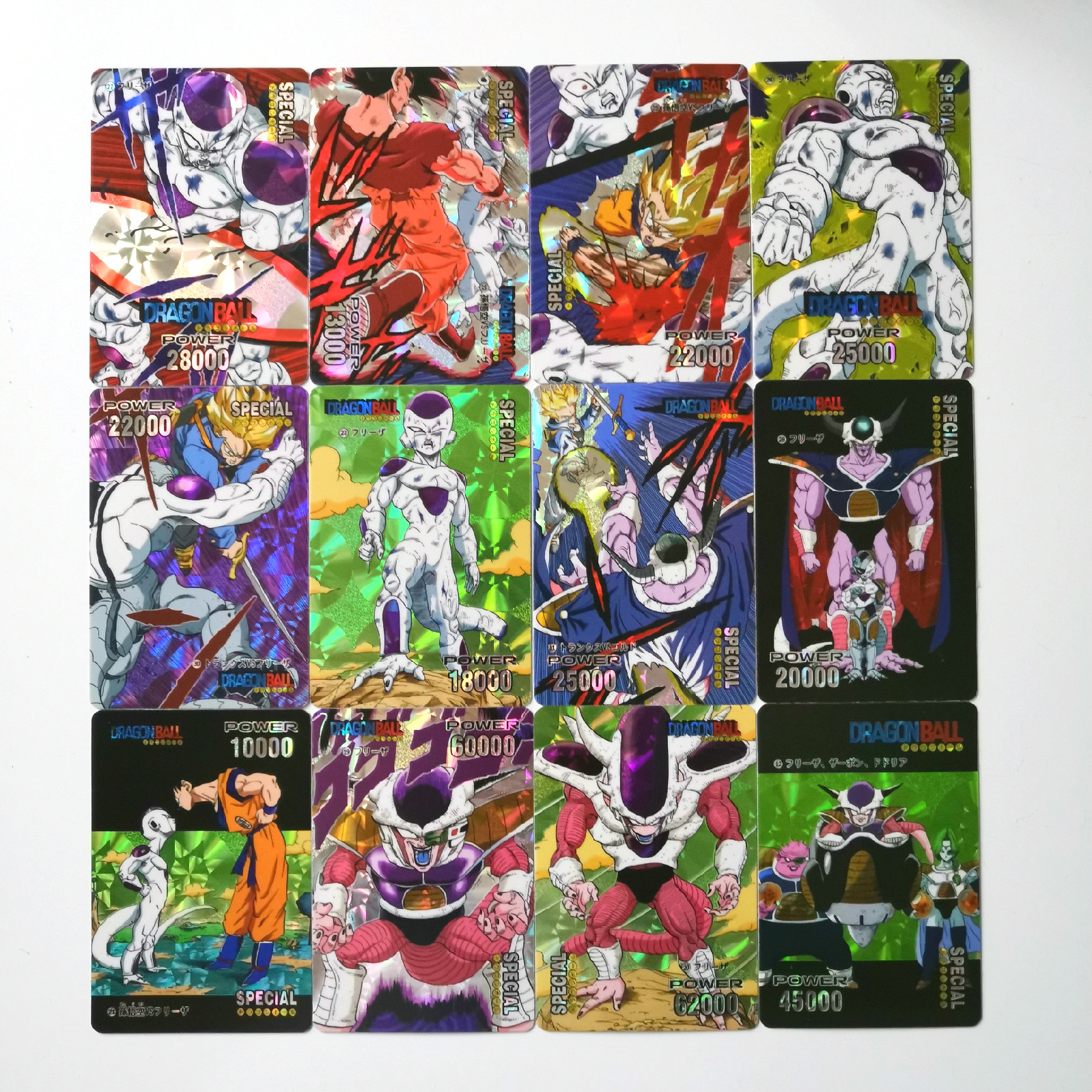 63pcs Super Dragon Ball Z Heroes Pasteable Battle Card Ultra Instinct Goku Vegeta Game Collection Cards