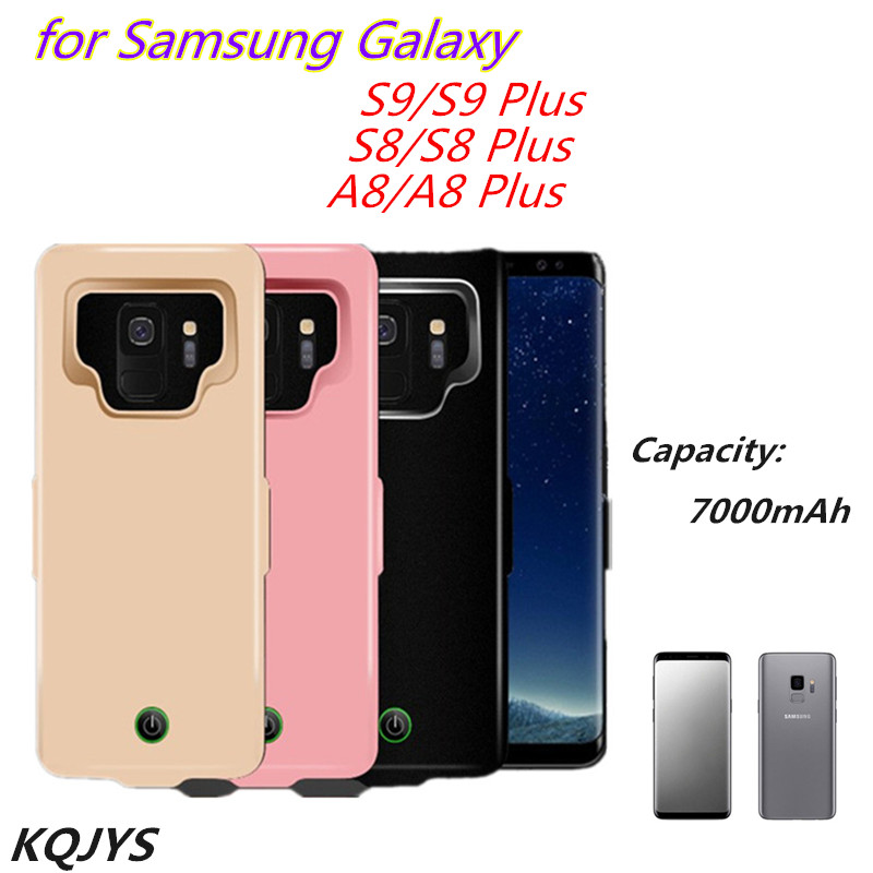 7000mAh Power Bank Battery Charger Cases for Samsung S9/S8/A8 Plus External Charging Cover Case for Galaxy S9 S8 Battery Case