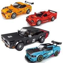Voitures de course ville vitesse Champions sport modèle blocs de construction briques à monter soi-même enfants jouet classique rallye Super coureurs véhicules f1