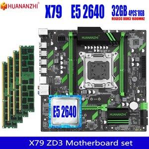 HUANANZHI X79 ZD3 motherboard with Xeon E5 2640 4x8GB=32GB 1600MHz 12800R DDR3 ECC REG memory motherboard set