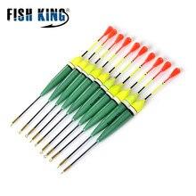 FISH KING 10pcs/lot 2g 4g 5g Barguzinsky Fir Fishing Float Bobber Long Vertical Buoy For Carp Fishing tackle Pesca