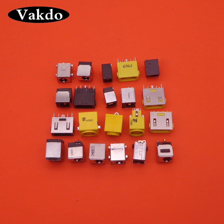 21Models 21pcs Laptop AC DC Power Jack netbook charging port Socket for acer asus HP dell Toshiba IBM lenovo Hasee connector