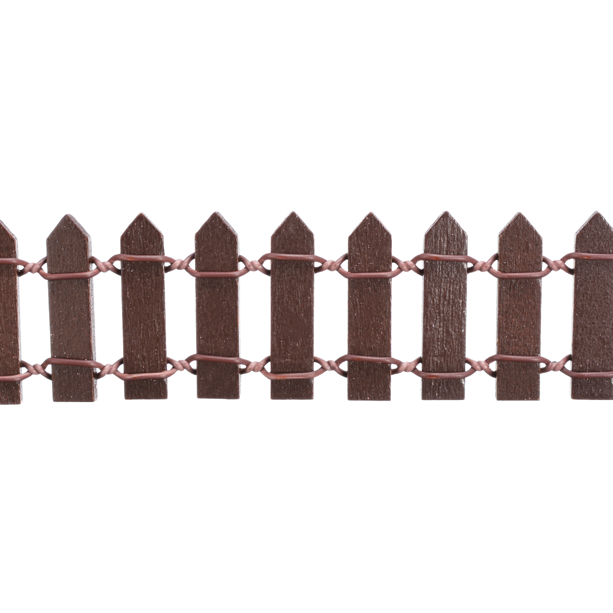 Image 2 - Miniature Wood Fencing DIY Fairy Garden Micro Dollhouse Gates Decor Ornament White/Coffee Colors 100*5cm/100*3cm-in Fencing, Trellis & Gates from Home & Garden