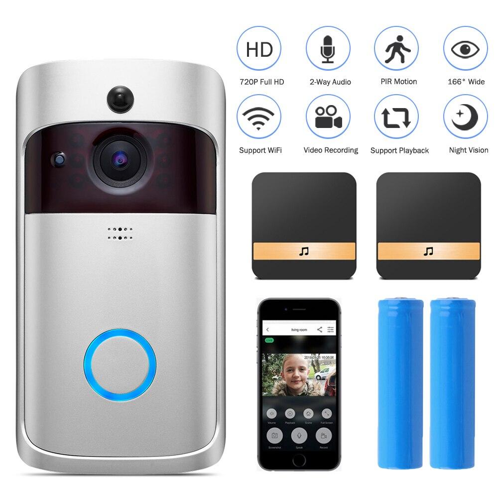 HISMAHO Smart Video Doorbell 720P HD Door Camera Intercom IP Wireless WIFI Door Bell Visual Home Security Monitor Night Vision