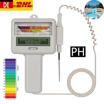2 w 1 Tester PH mierniki chloru do jakości wody urządzenie pomiarowe CL2 akwarium baseny mierniki PH dokładny pomiar tanie i dobre opinie OLOEY ANALOG