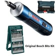 BOSCH GO & BOSCH GO2 미니 전기 스크루 드라이버 3.6V 리튬 이온 배터리 충전식 무선 드릴 비트 키트 세트