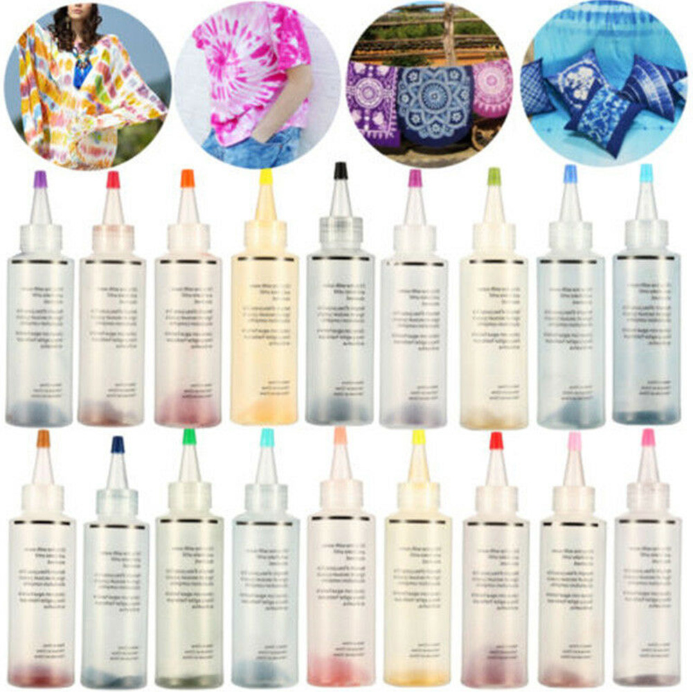 Tie Dye Kit Non Toxic Decorating Accessories Permanent Paint Party Supplies With Gloves Fabric Textile Colorful Craft One Step
