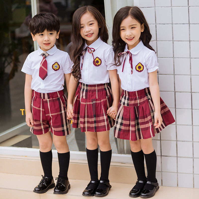 Kindergarten Suit 2019 Summer New Style Primary School STUDENT'S School Uniform Teacher Work Clothes Costume College Style Set
